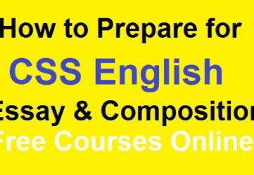 css english essay precis composition