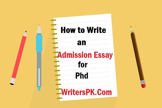 admission essay phd